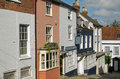 Quay street lymington hampshire october historic shops and residences in the very steep in the new forest town of Stock Photo