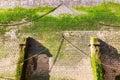 Quay wall with algaes Royalty Free Stock Photo