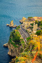 Quayside of the town Taormina Royalty Free Stock Photo