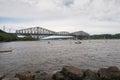 Quebec Bridge - longest cantilever bridge in the world. Royalty Free Stock Photo