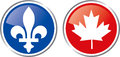 Quebec and canada emblem province county illustration Royalty Free Stock Images