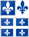 Quebec emblem province of canada illustration Royalty Free Stock Photo