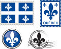 Quebec emblem stamp Royalty Free Stock Photos