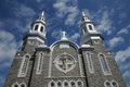 Quebec, the historical church of Louiseville Royalty Free Stock Images