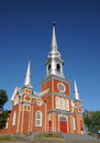 Quebec, the historical church of Saint Fabien Royalty Free Stock Image