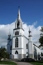 Quebec the historical church of saint nazaire canada Royalty Free Stock Images
