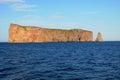 Quebec, Perce Rock in Gaspesie Stock Images