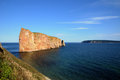 Quebec perce rock in gaspesie canada Royalty Free Stock Image