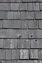 Quebec wooden tiles on the maison lamontagne in rimouski canada Royalty Free Stock Image