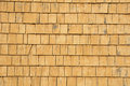 Quebec wooden tiles on a wall of an house canada Royalty Free Stock Photos