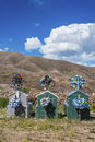 Quebrada de humahuaca in jujuy argentina cemetery on the colourful valley of province northern Stock Photo