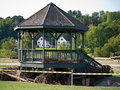 Quechee Vermont Gazebo after Irene Stock Photos