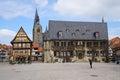 Quedlinburg market square with city hall