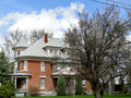 Queen anne mansion this style has been a historical landmark in weiser idaho since Stock Photos