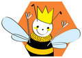 Queen Bee illustration Stock Photo