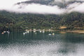 Queen charlotte sounds picton picturesque and tranquill Royalty Free Stock Photography