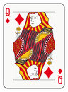 Queen of diamonds playing card Stock Photos