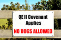 Queen elizabeth ii national trust karikari nz mar covenant sign enables new zealand landowners to protect Stock Photos