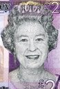 Queen Elizabeth II a portrait from Jersey pounds Royalty Free Stock Photo