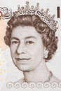 Queen Elizabeth II a portrait Royalty Free Stock Photo