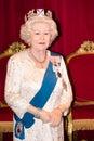 Queen elizabeth ii wax figure madame tussaud s museum london Stock Photo