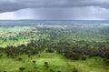 Queen Elizabeth National Park aerial view Stock Photo