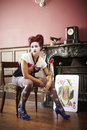 Queen of hearts Royalty Free Stock Photography