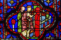 Queen Jerusalem Stained Glass Sainte Chapelle Paris France Royalty Free Stock Photo
