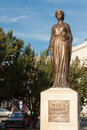 Queen marie of romania sculpture created in is situated in front oradea state theatre maria Stock Images
