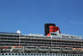 Queen mary cruise ship detail at brooklyn cruise terminal new york august on august is cunard s flagship ready for Royalty Free Stock Photography