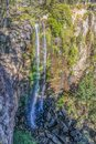 Queen Mary Falls in the Main Range National Park which descend 40 metres from the McPherson Range near the Queensland-New South Wa Royalty Free Stock Photo