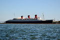 Queen Mary Liner, Long Beach, Los Angeles, USA Royalty Free Stock Photo