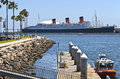 The queen mary long beach california ship moored in Royalty Free Stock Photography