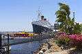 The queen mary long beach california ship moored in Royalty Free Stock Photos
