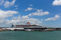 Queen mary ocean going transatlantic liner and cruise ship at southampton docks england uk in summer with blue sky Royalty Free Stock Images