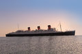 Queen Mary, sister ship of the Titanic Royalty Free Stock Photo