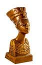 Queen Nefertiti on white Royalty Free Stock Photo