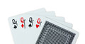 Queen Playing cards poker Royalty Free Stock Photo
