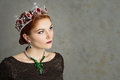 Queen, royalty person with crown. Fashion, elegant woman Royalty Free Stock Photo