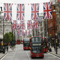 Queen's Diamond Jubilee decoration, Oxford Street Stock Photos