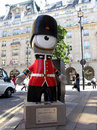 Queen's Guard Wenlock, London Olympics mascot Stock Photos