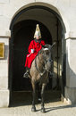 Queen s horse guard on duty london uk march members of the guards parade london march Stock Image