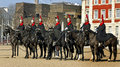 Queen s horse guard on duty london uk march members of the guards parade london march Royalty Free Stock Photography