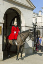 Queen s horse guard on duty london uk march members of the guards parade london march Royalty Free Stock Image
