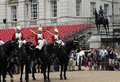 The queen s life guard changes at horse guards parade whitehall Stock Image