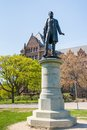 Queen s park statues george brown statue of in the southern section of the in downtown toronto ontario canada was a scottish Stock Photography