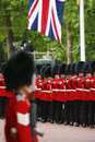 Queen s soldier at queen s birthday parade london uk june union jack present take place to celebrate Stock Photos