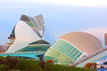 The queen sofia palace of arts and hemispheric buildings valencia spain  november a view in city Royalty Free Stock Image