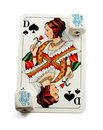 Queen of spade playing card Royalty Free Stock Photos