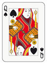Queen of spades playing card Stock Image